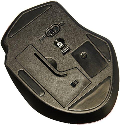 Amazon Basics Ergonomic Wireless PC Mouse - DPI adjustable - Black