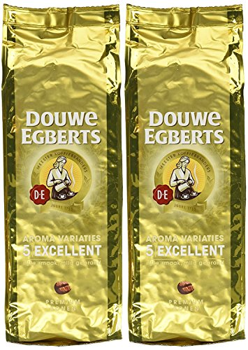 Douwe Egberts Ground Coffee - Douwe Egberts Excellent Aroma Whole Bean Coffee 17.6 Oz (Pack of 2)