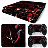 GoldenDeal PS4 Slim Console and DualShock 4 Controller Skin Set – SuperHero – PlayStation 4 Vinyl Review