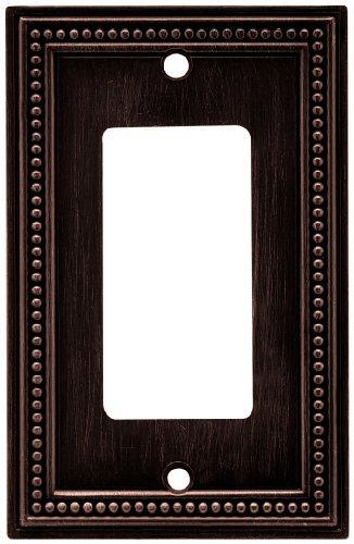 Brainerd 64405 Beaded Single Decorator Wall Plate / Switch Plate / Cover, (Brainerd Beaded Single)
