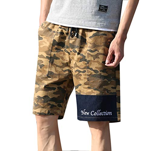 Beach Shorts Mens Summer Casual Loose Camouflage Printing, used for sale  Delivered anywhere in USA