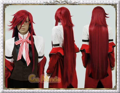 Black Butler / Kuroshitsuji - Grell Sutcliff Wig (Wine Red)