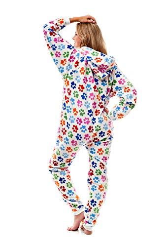 Pijama entero sin pies para adultos, Huellas Caninas Go-Jamz: Pijama entero sin pies para adultos, por Kajamaz
