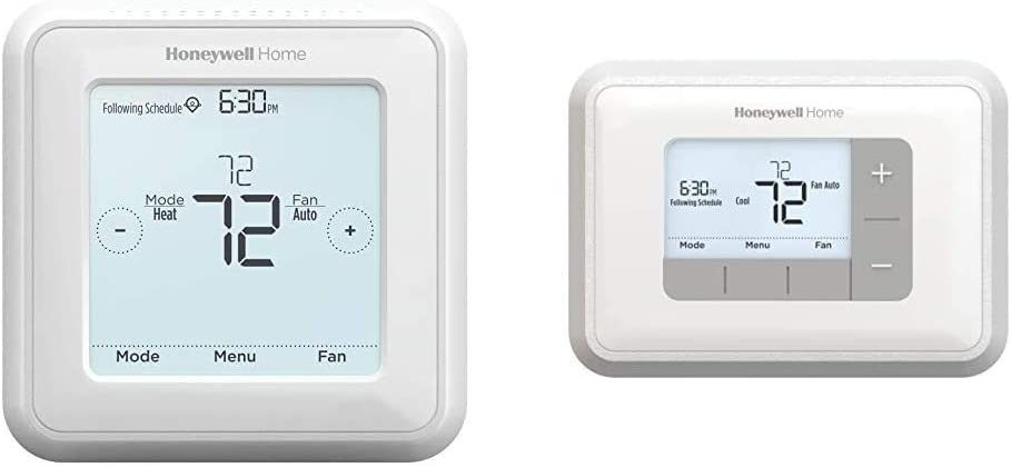 Honeywell Home RTH8560D 7 Day Programmable Touchscreen Thermostat & Home Home RTH6360D1002 Programmable Thermostat, 5-2 Schedule, 1-Pack, White