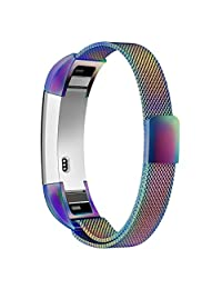 Fitbit Alta Band,Fitbit Alta HR Bands, Simpeak Stainless Steel Replacement Small & Large Armband Strap with Magnetic Closure Clasp for Fitbit Alta / Fitbit Alta HR, Colorful