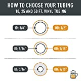 """25 Feet - 5/16"""" ID 7/16"""" OD Clear Vinyl Tubing Food Grade Multipurpose Tube for Beer Line, Kegerator, Wine Making, Aquaponics, Air Hose by Proper Pour"""