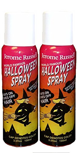 Jerome Russell Temporary Hair Color Spray - WHITE - Two Pack - Sprays In -Washes Out 2 x 3.5 fl oz ()