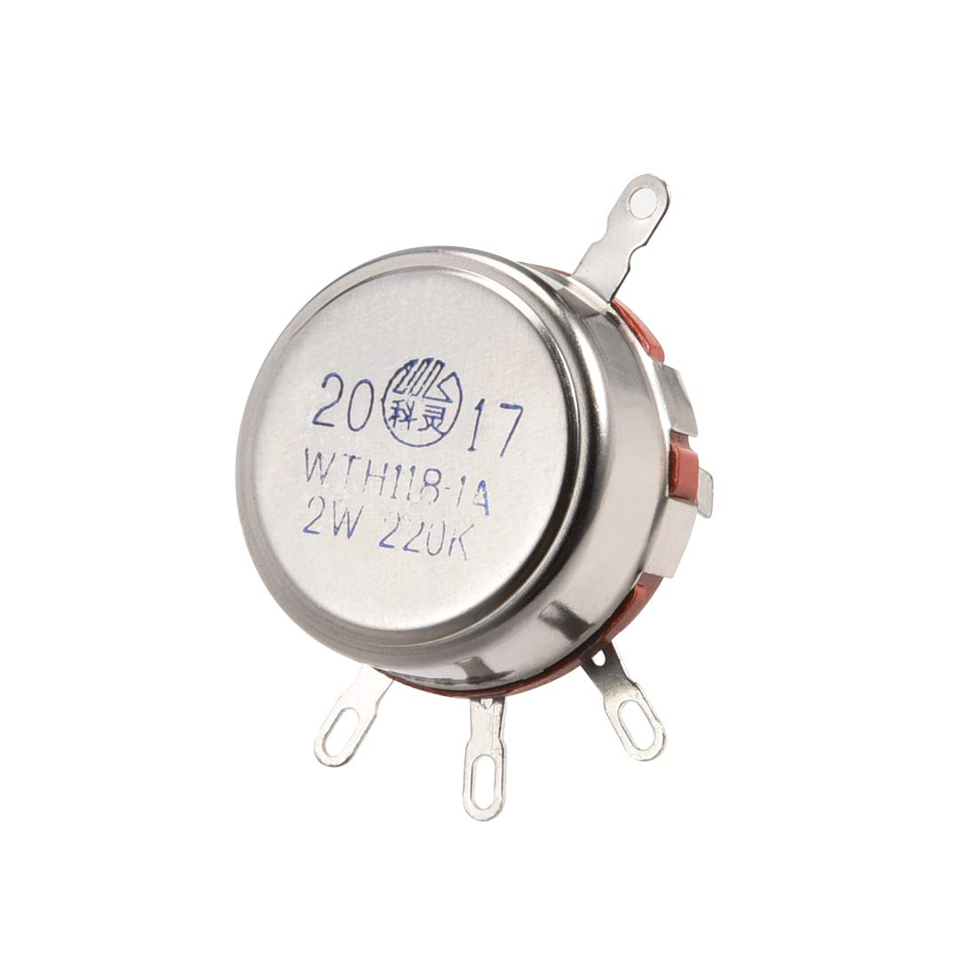 sourcing map WTH118-1A 1K Ohm Variable Resistors Single Turn Rotary Carbon Film Taper Potentiometer