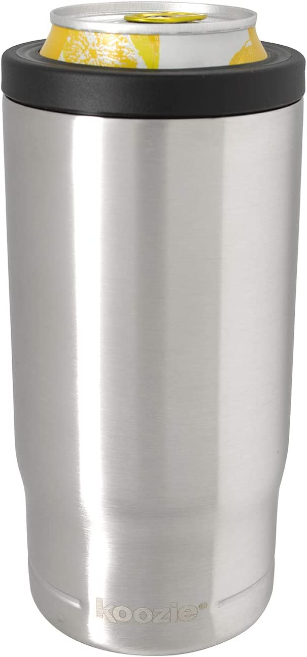 Koozie Stainless Steel Insulated Triple Can Cooler - 16 oz. (Silver)
