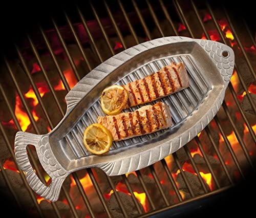 Wilton Armetale Gourmet Grill avec poignées 47 cm 18-3/4-Inch by 8-1/2-Inch Barbecue à poissons.