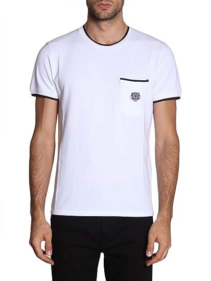 cc45a8e90 Kenzo Men's F005ts0014ba01 White Cotton T-Shirt: Amazon.co.uk: Clothing