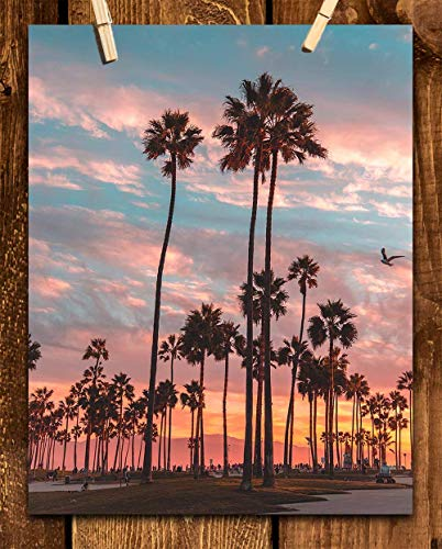 - Palm Trees of Paradise- 8 x 10'-Wall Art Print- Ready to Frame. Beautiful Beach Décor- Beach Home Decor- Office Decor- Makes the Perfect Art for Any Room. Great Gift of Beach Pictures Wall Art.