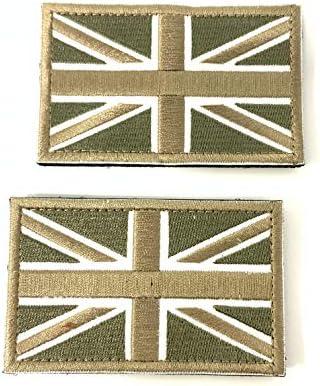 2 Parches Velcro x Reino Unido Inglaterra Emblema Gran Bretaña Bandera Táctico bandera con velcro podría ser pegado a la ropa, chaleco, gorra, mochila Directamente OD: Amazon.es: Hogar