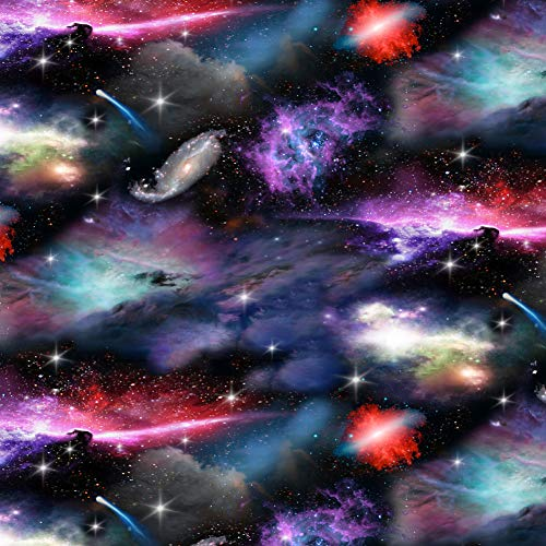 GRAPHICS & MORE Space Galaxies Nebula Shooting Stars Pattern Premium Roll Gift Wrap Wrapping Paper