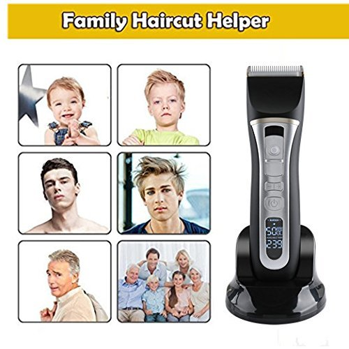 Hair Clippers For Men Professional 5-Speed Cordless Rechargeable Hair Cutting Set Quiet Haircut Kit For Kids,Boy,Personal Electric Ceramic Blade Beard Trimmer&LED Screen Display Intelligent Protection by kiizon (Image #8)