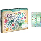 Moly & Rex Words In Bloom File Folders Set of 10 (There Are Many Beautiful Reasons To Be Happy)