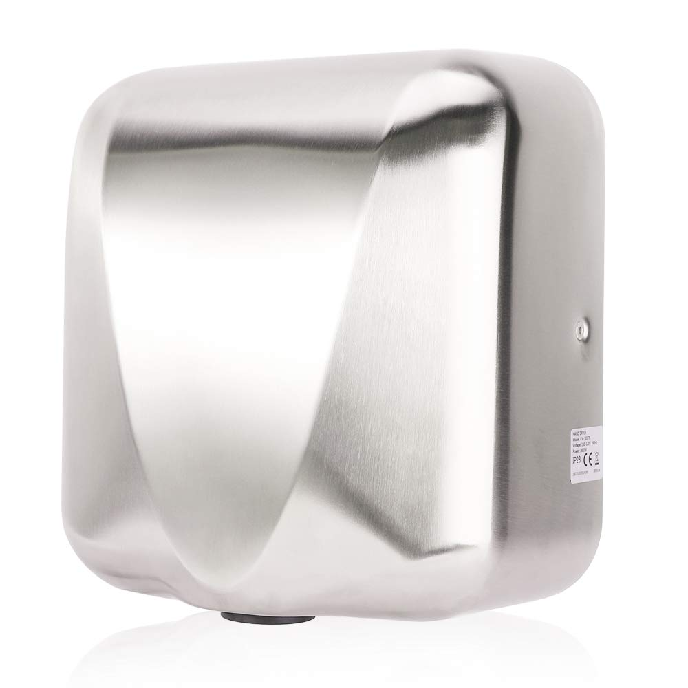 VALENS Hand Dryer Commercial for Bathroom, Automatic Hand Dryers 224 mph with HEPA Filter, High Speed 1800W, Hot or Cold Air Available, Brushed Silver (1 pc) by VALENS