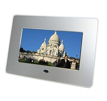 L&R Marcos digitales Marco de fotos digital de 7 pulgadas de alta resolución con pantalla grande