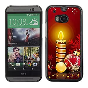 YOYO Slim PC / Aluminium Case Cover Armor Shell Portection //Christmas Holiday Candles 1263 //HTC One M8