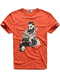 Souyute Men Graphic Cotton T-shirt