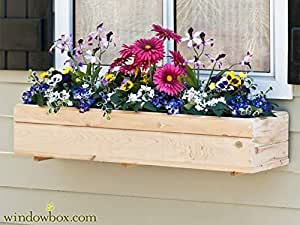 Standard Cedar Wood Window Box w/Cleat Mounting System 50 inches