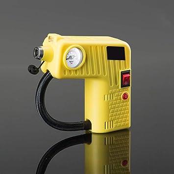 Rescuer Compresores de Aire, Mini Compresor De Aire Portátil Bomba De Neumáticos Indicador 12V 100W Flujo De Aire 25L / Min con Martillo De Seguridad (Color ...