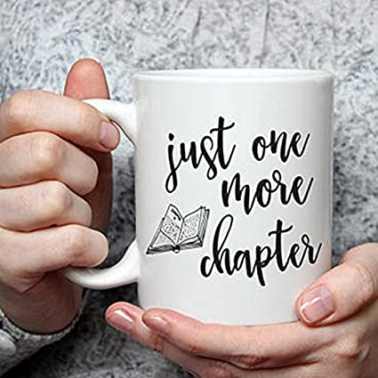 amazon com just one more chapter mug book lover gift mugs