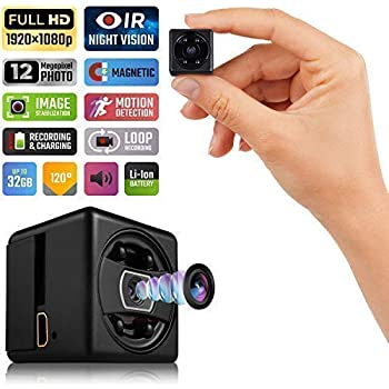 Lilexo Mini Hidden Spy Camera - 1080P Mini Security Camera - HD Cop Cam - Small Action Cam with Night Vision and Motion Detection - Indoor/Outdoor Perfect ...
