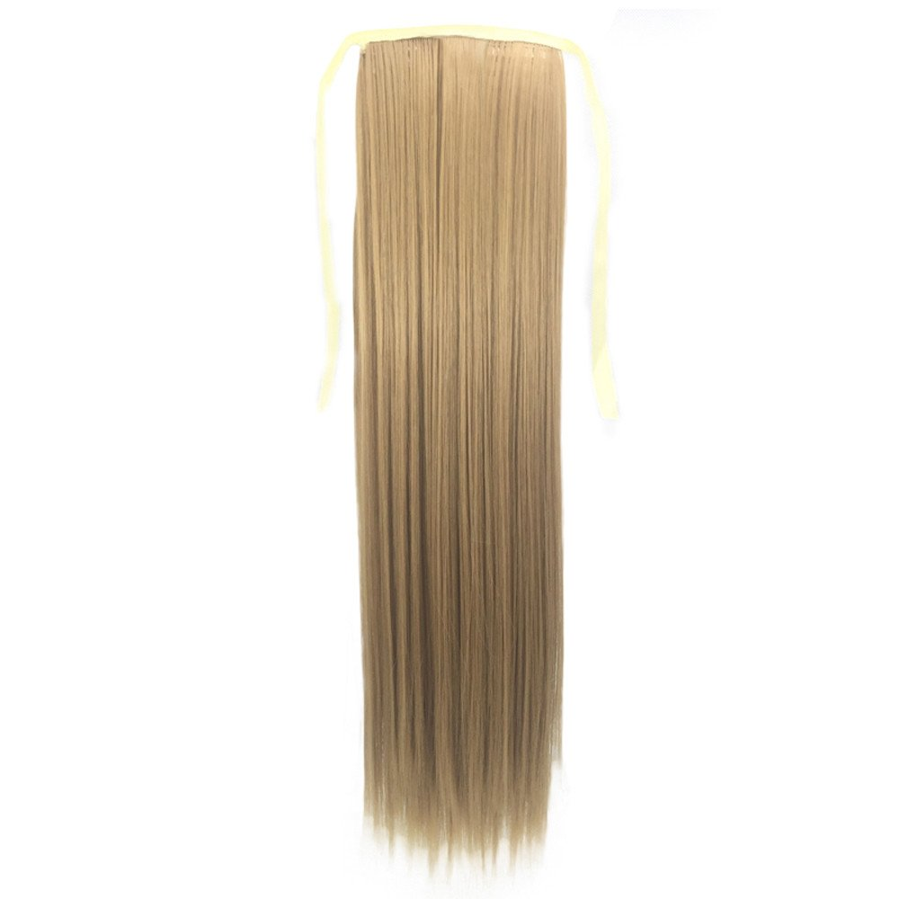 Baulody Clip in Hair Extensions Real Human Hair Extensions 21.5 inches Clip on for Fine Hair Full Head Silky Straight Weft Hair (C)
