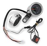 Bikers Choice Electronic Mini Speedometer Black Face