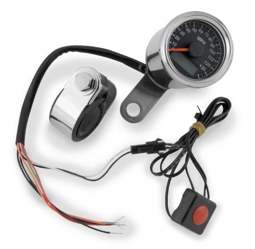 Bikers Choice Electronic Mini Speedometer Black Face