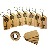 50Pcs Wedding Favors Skeleton Key Bottle Opener,Vintage Skeleton Key Bottle Opener with 50pcs Escort Card Tag and Twine for Guests Party Favors Rustic
