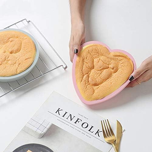 rund Mousse-Brotpfanne Backform Silikonherz Backform BPA-frei Gelentea Kuchenform Backform Backform