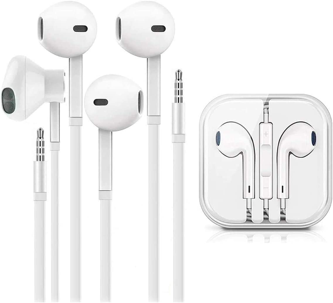 for iPhone Earbuds with 3.5mm Headphone Plug Mic Call+Volume Control for iPhone Earphones Compatible with iPhone,iPad,iPod,Computer,MP3,Android and Tablets -2 Pack