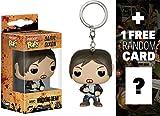 Daryl Dixon: Pocket POP! x Walking Dead Mini-Figure Keychain + 1 FREE Official Walking Dead Trading Card Bundle [44503]