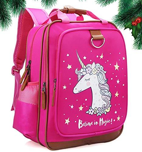 Girls Backpack Unicorn 15'| Pink Kids School Bag for Kindergarten or Elementary