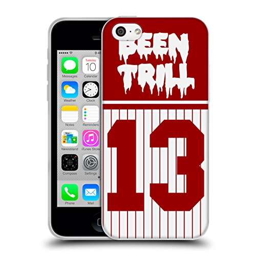 Official Been Trill Red Stripe Jersey Soft Gel Case for Apple iPhone 5c