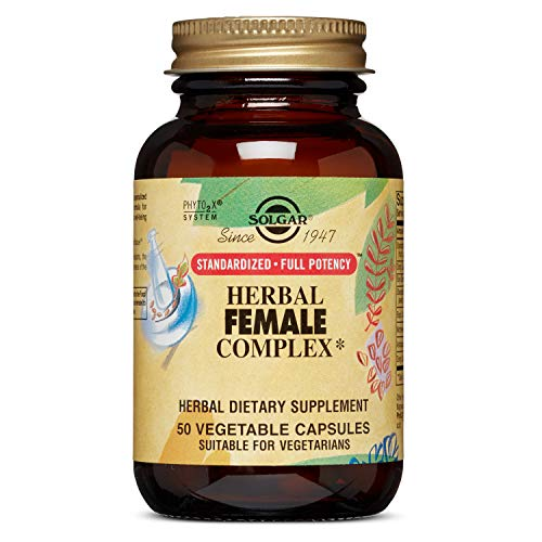 Solgar – Standardized Full Potency Herbal Female Complex, 50 Vegetable Capsules