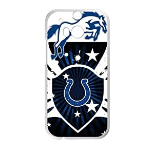 Hoomin Black And White Indianapolis Colts Design HTC One M8 Cell Phone Cases Cover Popular Gifts(Laster Technology)
