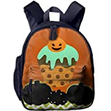 Ugift Cool Print Halloween Cakes with Pumpkins 2-6 Children Book Bag Opening Gift Prize Schoolbag