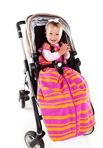 Schlummersack Baby Ganzjahres Reiseschlafsack 2.5 Tog - Pink/Orange Stripes - 12-36 Monate/110 cm