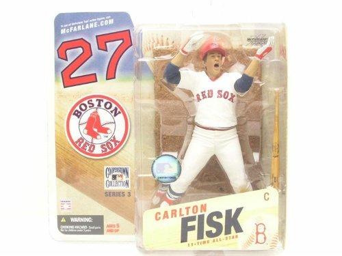 (McFarlane SportsPicks: Cooperstown Series #3 - Carlton Fisk in White Boston Red Sox Uniform)