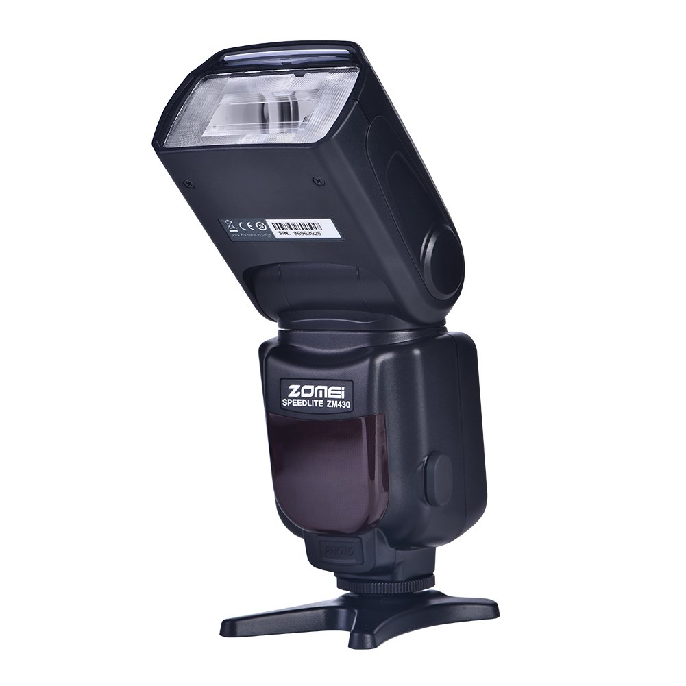 Acouto ZOMEI ZM430 Wireless Hot Shoe On-Camera Flash Speedlite LED Light for DSLR Camera