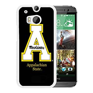 NCAA Appalachian State Mountaineers 7 White Customize HTC ONE M8 Phone Cover Case