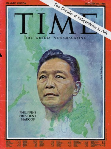 President Ferdinand E. Marcos (Philippines) - Magazine Cover Signed