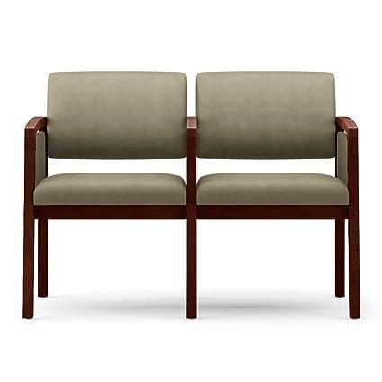 Amazon.com : One Set, Lenox Panel Arm Two Seat Fabric Sofa w ...
