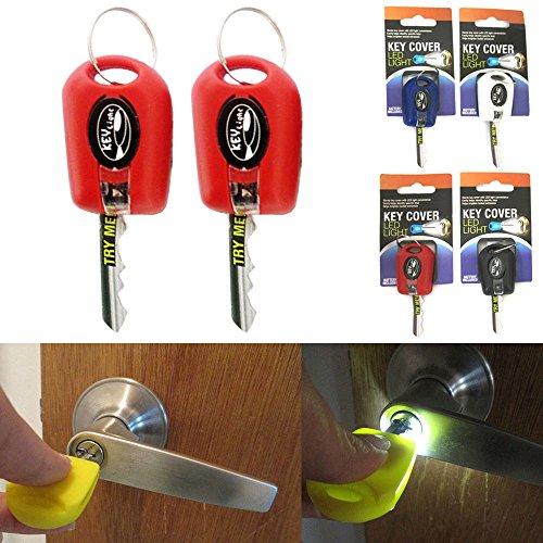 2 Key Cover LED Bright Light Keychain Torch Flashlight Keyring Case Cap New ! - Bright Led Flashlight Keychain