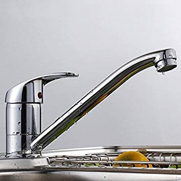 Gsyh Single Handle Kitchen Sink Faucet Solid Brass Single Hole Kitchen Faucets Chrome Amazon Com