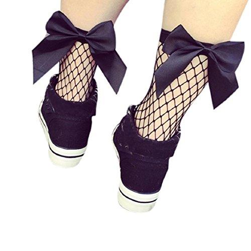 Ruffle Bow Socks - 8