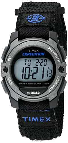 Timex Unisex TW4B02400 Expedition Mid-Size Digital CAT Black Fast Wrap Velcro Strap Watch